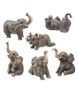 Small Elephant Collectible Figurine, Set of 6 - $29.69