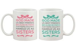 Matching BFF Coffee Mugs for Best Friends - God Made Us Best Friends - $24.99