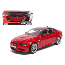 BMW M3 E92 Coupe Red 1/18 Diecast Car Model by Motormax - $54.94