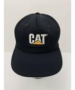 Vintage CAT Patch Tonkin Hat USA Black Foam Snapback Cap Caterpillar Exc... - $66.82