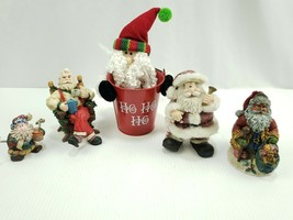Christmas Santa Claus Figures Lot of 5 See Pics - $18.31