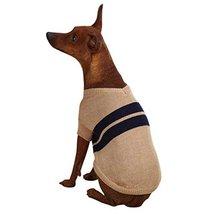 Dog Sweater Khaki Zack & Zoey Acrylic Ivy League X-Large - $12.99