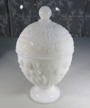 Vintage Milk Glass lidded cup covered candy dish Avon - $25.00