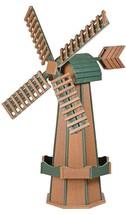 "41"" POLY WINDMILL Cedar & Green Working Dutch Garden Weathervane Amish M... - $413.41 CAD"