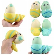 Jumbo Blue Yellow Conch Cartoon Squishy Slow Rising Squeeze Kid Toy Gift Funny - $4.99