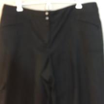 IZOD Golf Stretch Black Pants Women's Size 14 100% Polyester - $12.86