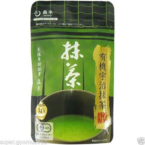 [JAS Certified] Morihan : Kyoto Uji Organic Matcha Green Tee Powder 30g (1.05oz)