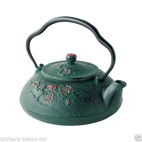 Nanbu Tetsubin: Shinonome Down - 2 color - Japanese Cast Iron Tea Pot from Iwate