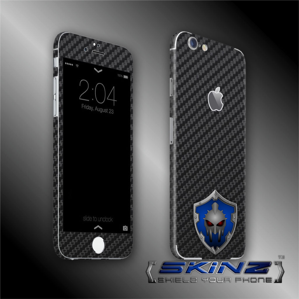 """iPhone 6 / 6S Plus 5.5"""" Carbon Skin, Full Body Case Cover Protector, Decal Wrap"""