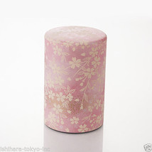 Tea Can : Chiyogami Washi Paper (L) vol.150g - 2 color - tins caddy cani... - $25.99