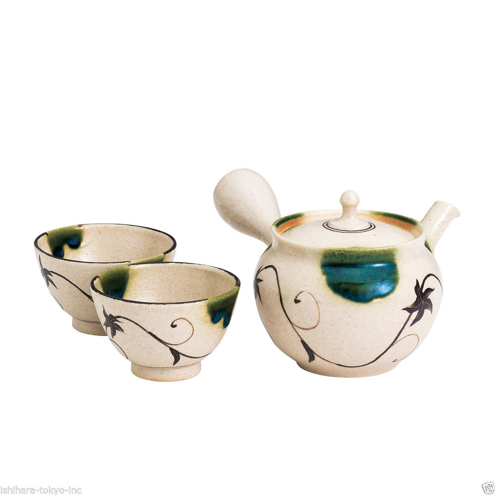 [Premium/VALUE] Tokoname Kyusu Set : JUNZO MAEKAWA - 1 Pot, 2 Cups from Aichi