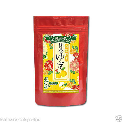 Azuma Tea : Kyoto Matcha Yuzu (Japanese citrus) Mix Powder 120g (4.23oz)