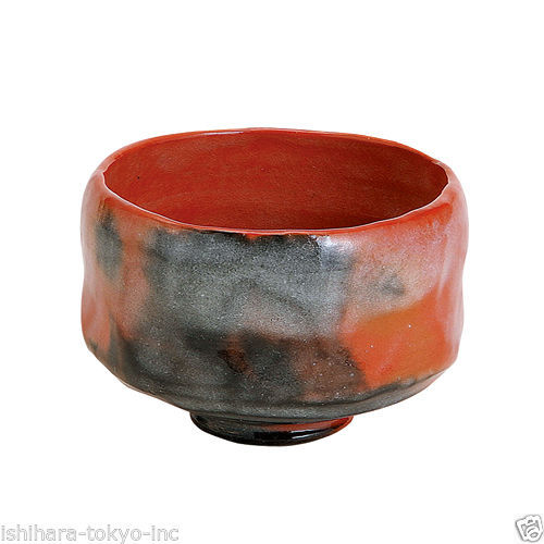 [Premium] Matcha Bowl: AKARAKU - Kyo-yaki Matcha Wan (RED) Kyoto with Wooden Box