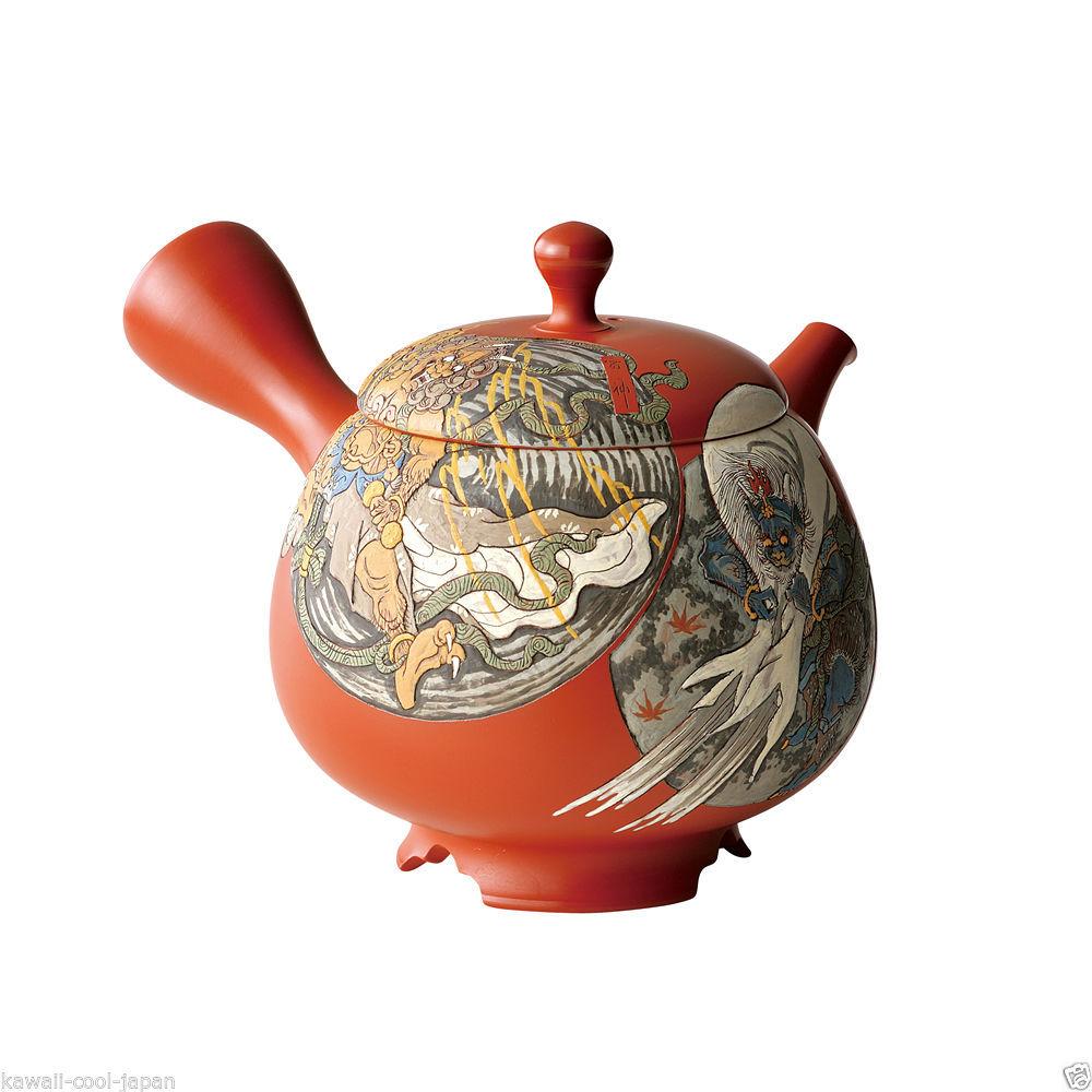 [Heritage/Limited] Tokoname Kyusu : Kodo Yoshikawa - Fujin Raijin-zu - Tea Pot