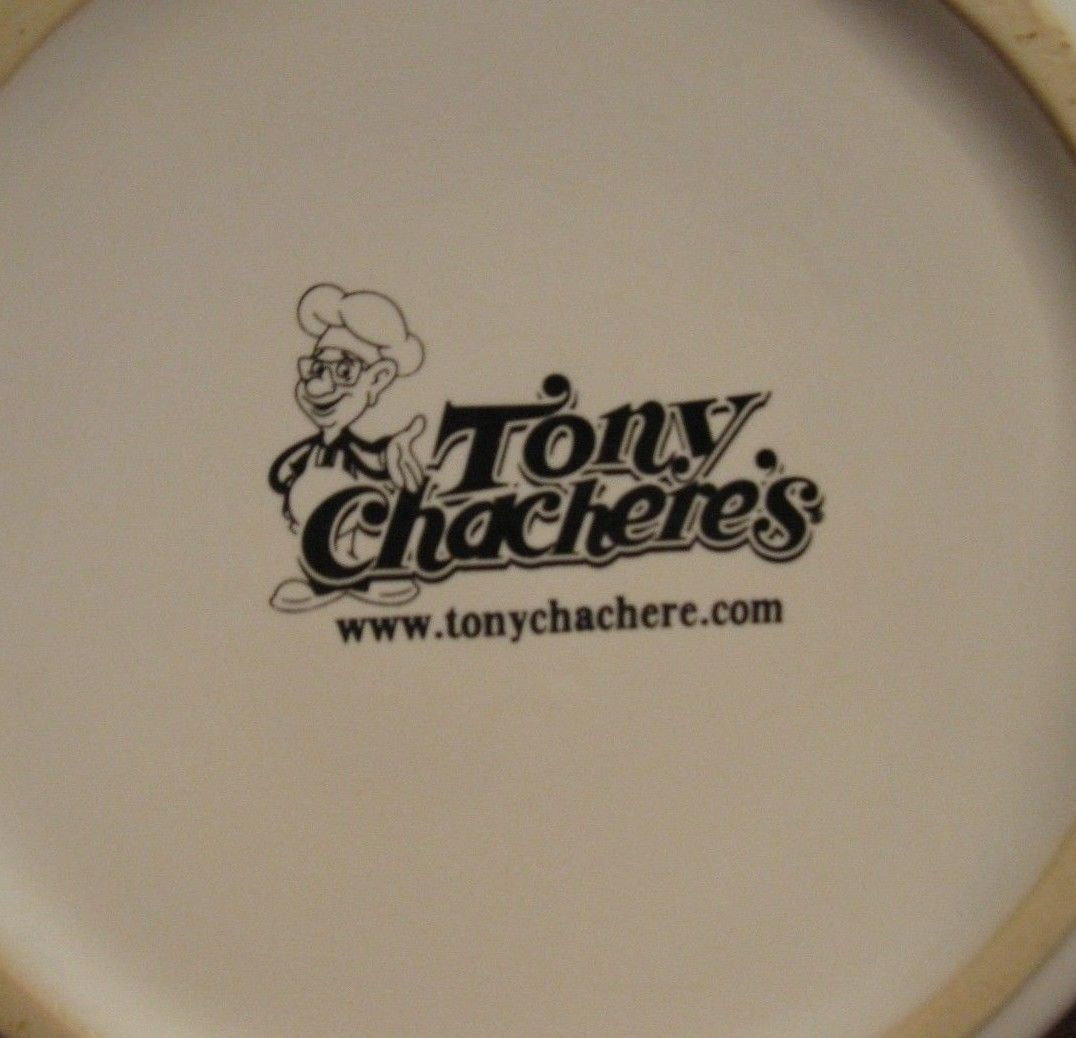 Tony Chacherie 5.25 in White & Green Soup Bowls NEW! #R05