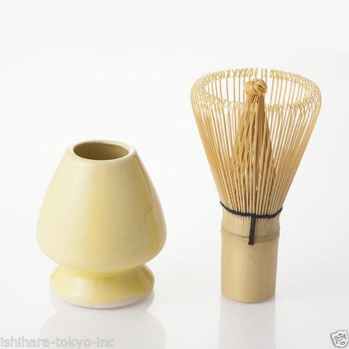 Matcha Chasen Set - Matcha Bamboo Whisk 80 & Whisk Stand (3 color) Japan