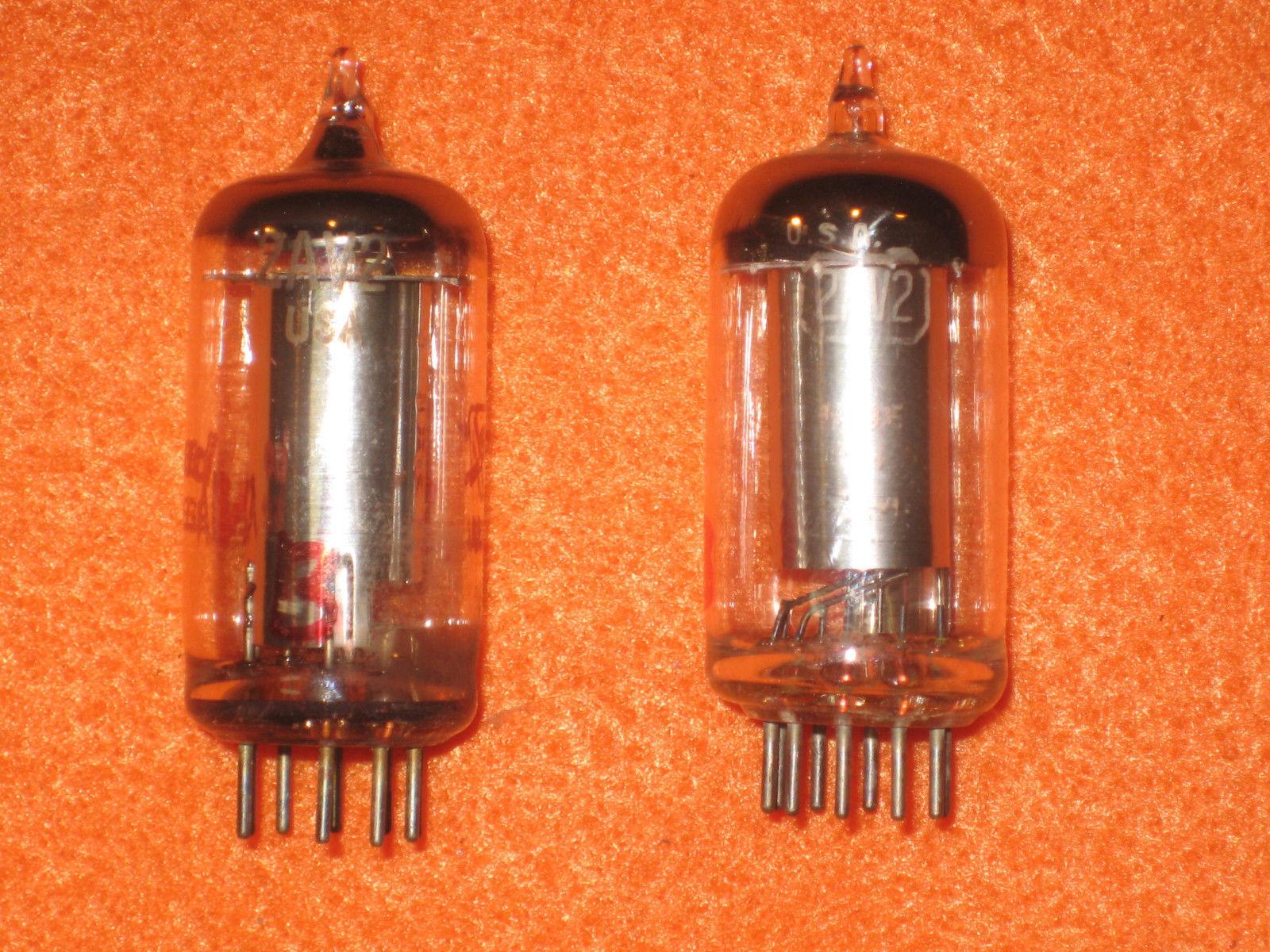 Vintage Radio Vacuum Tube (one): 2AV2 - Tested Good