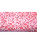 """2 3/4 Yards of  44"""" Wide Pink Coral Floral Textured Cotton Fabric   #5015 - $8.99"""