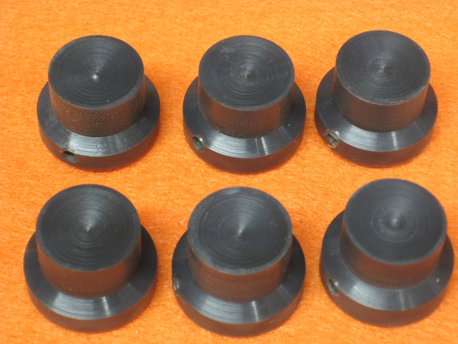 Knobs (one), Radio/Guitar, Hand-Crafted, Gray with 4mm Slot-Head Set Screw, #21