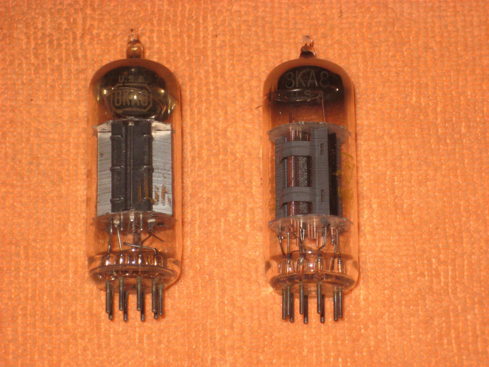 Vintage Radio Vacuum Tube (one): 8KA8 - Tested Good
