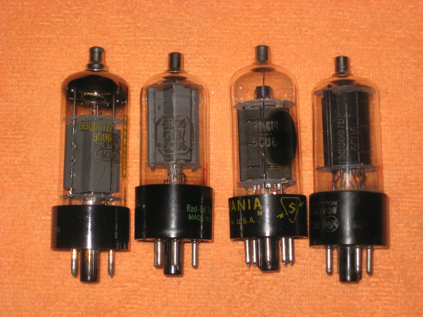Vintage Radio Vacuum Tube (one): 6BQ6 6BQ6GTB / 6CU6 - Tested Good
