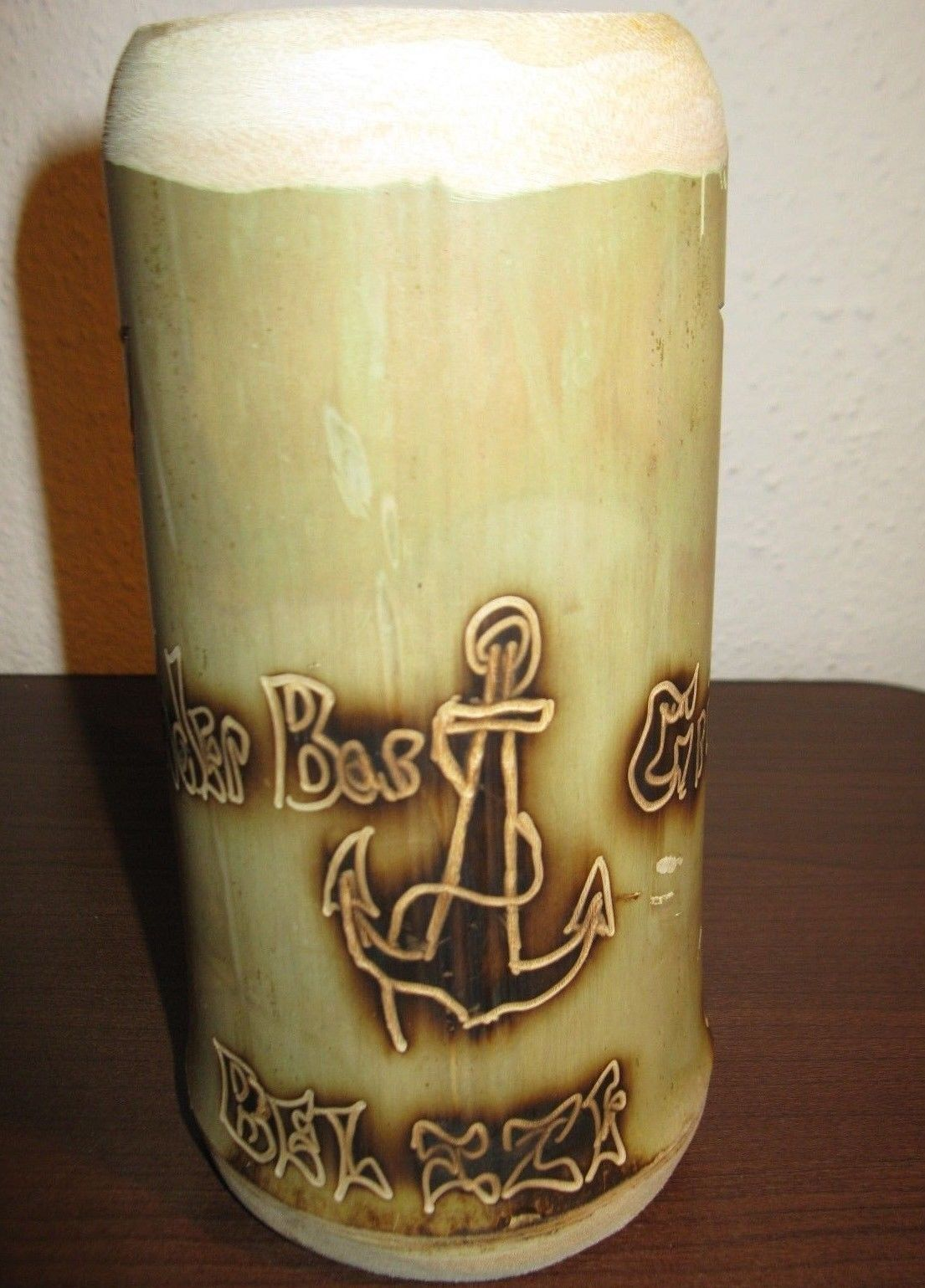 Unique Trader Bob Grill, California 6.5 in Green Bamboo Mug Nice! #R04