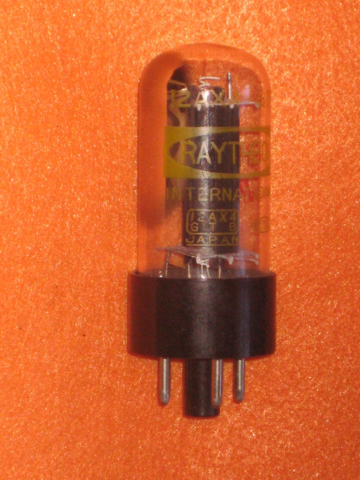 Vintage Radio Vacuum Tube (one): 12AX4 12AX4GTB - Tested Good