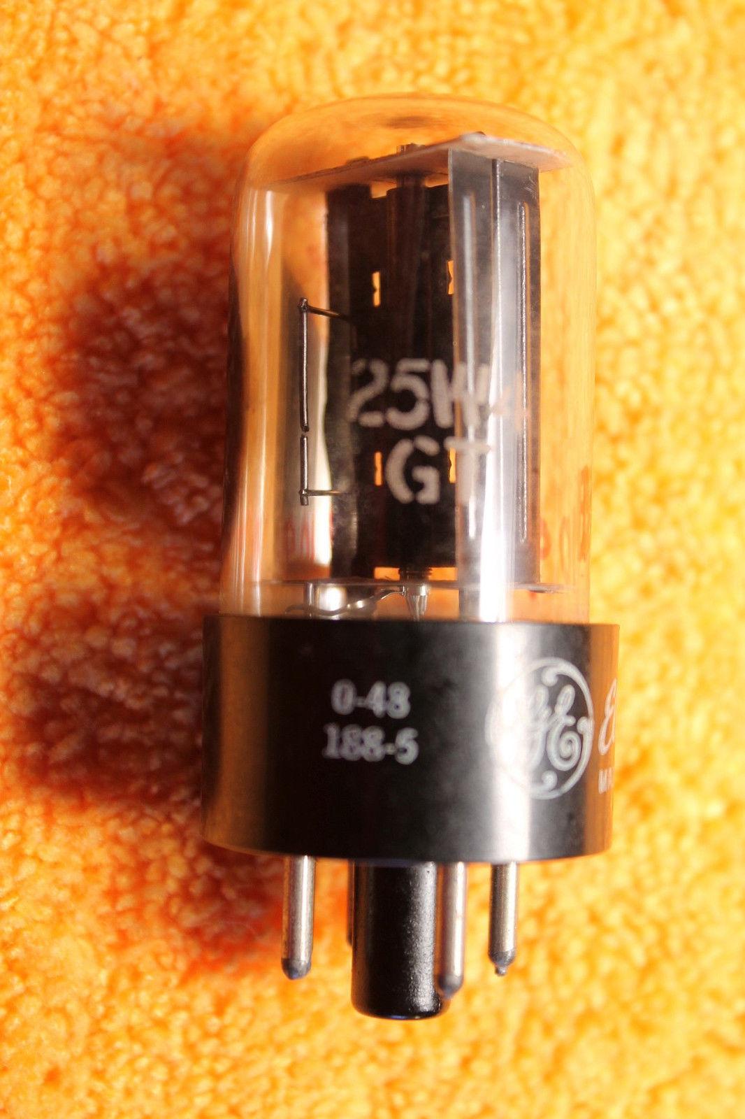 Vintage Radio Vacuum Tube (one): 25W4 25W4GT - Tested Good
