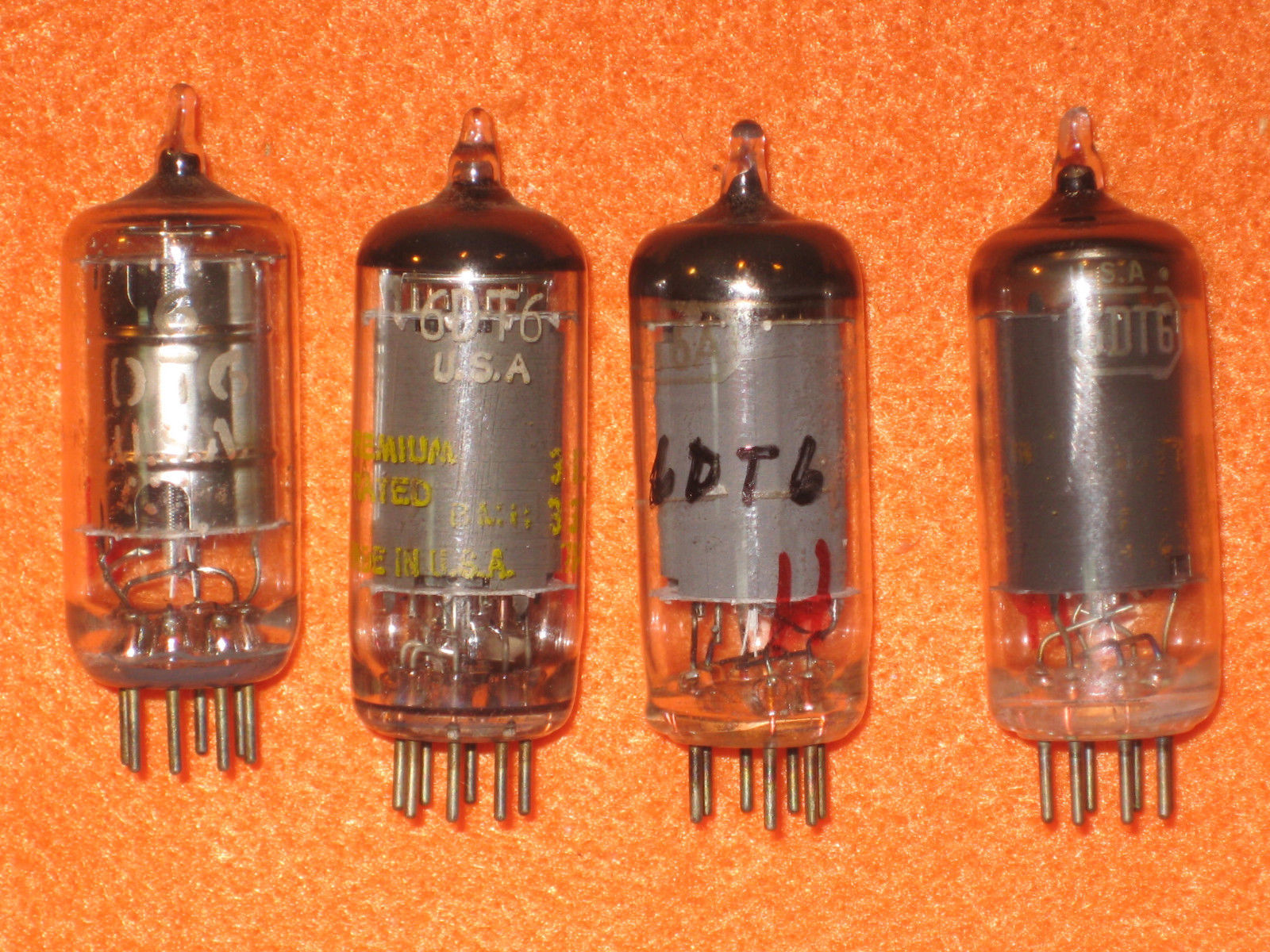 Vintage Radio Vacuum Tube (one): 6DT6 - Tested Good