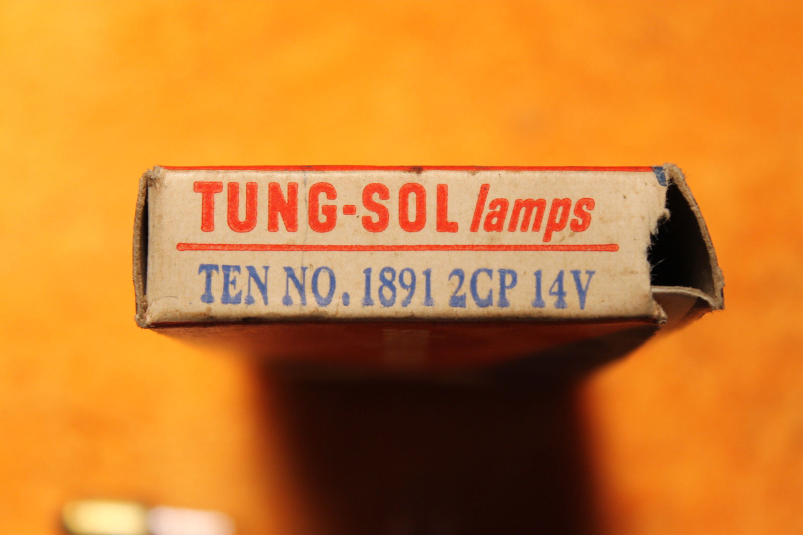 Vintage Incadesent Lamp (one): #1891 2CP, 14 Volts - Tung-Sol - NOS