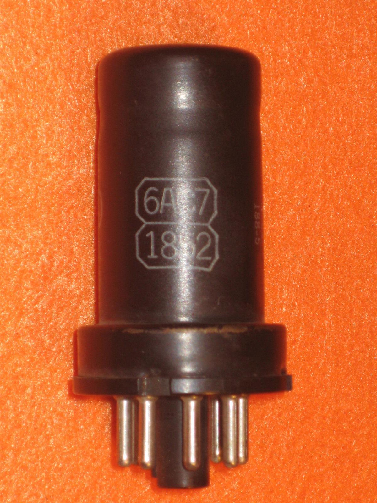 Vintage Radio Vacuum Tube (one): 6AC7 Metal - Tested Good