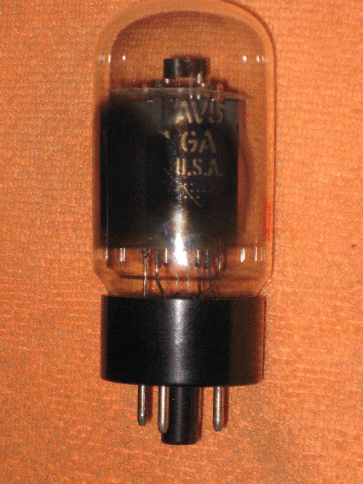 Vintage Radio Vacuum Tube (one): 12AV5 12AV5GA - Tested Good