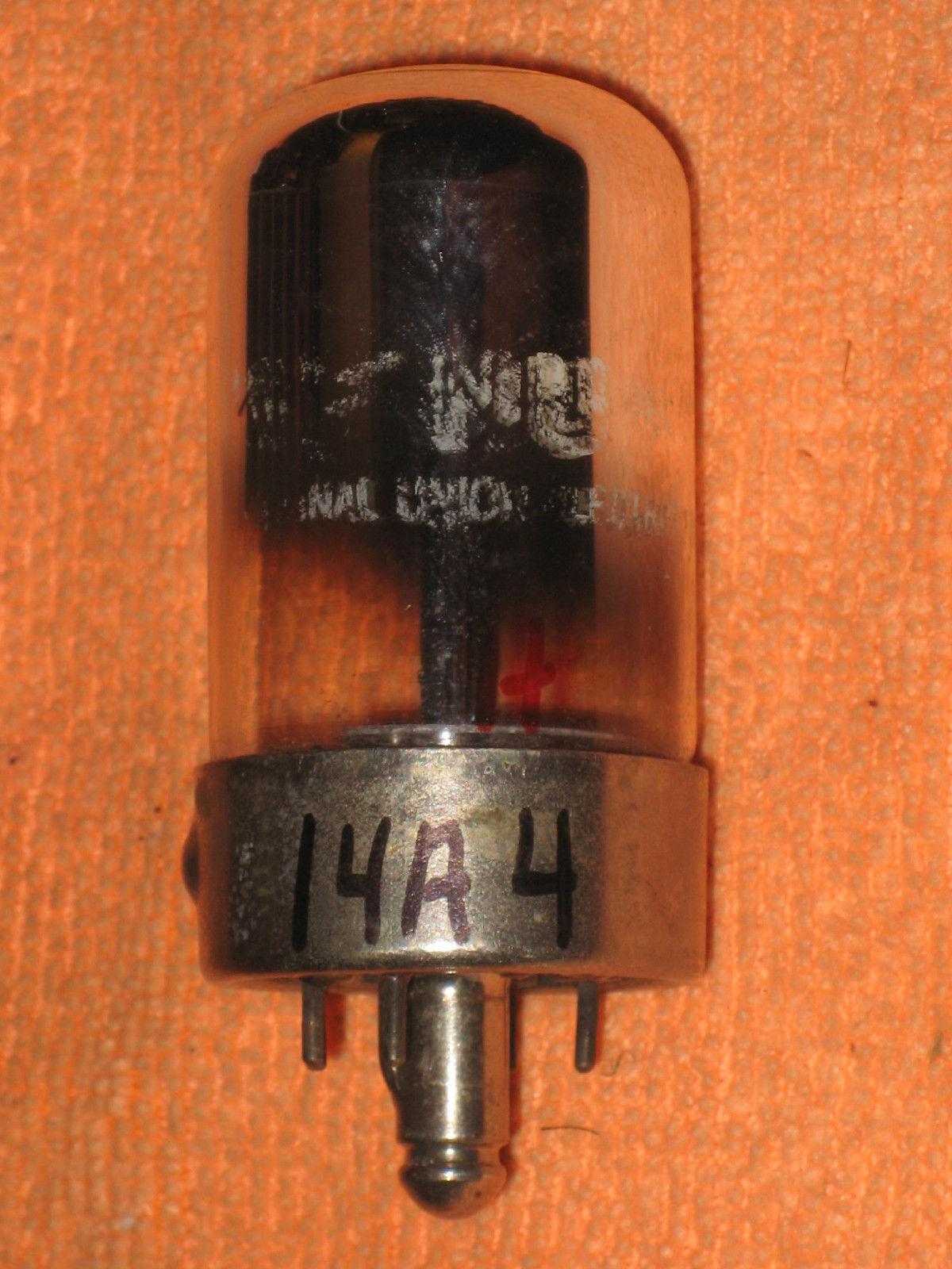Vintage Radio Vacuum Tube (one): 14A4 - Tested Good