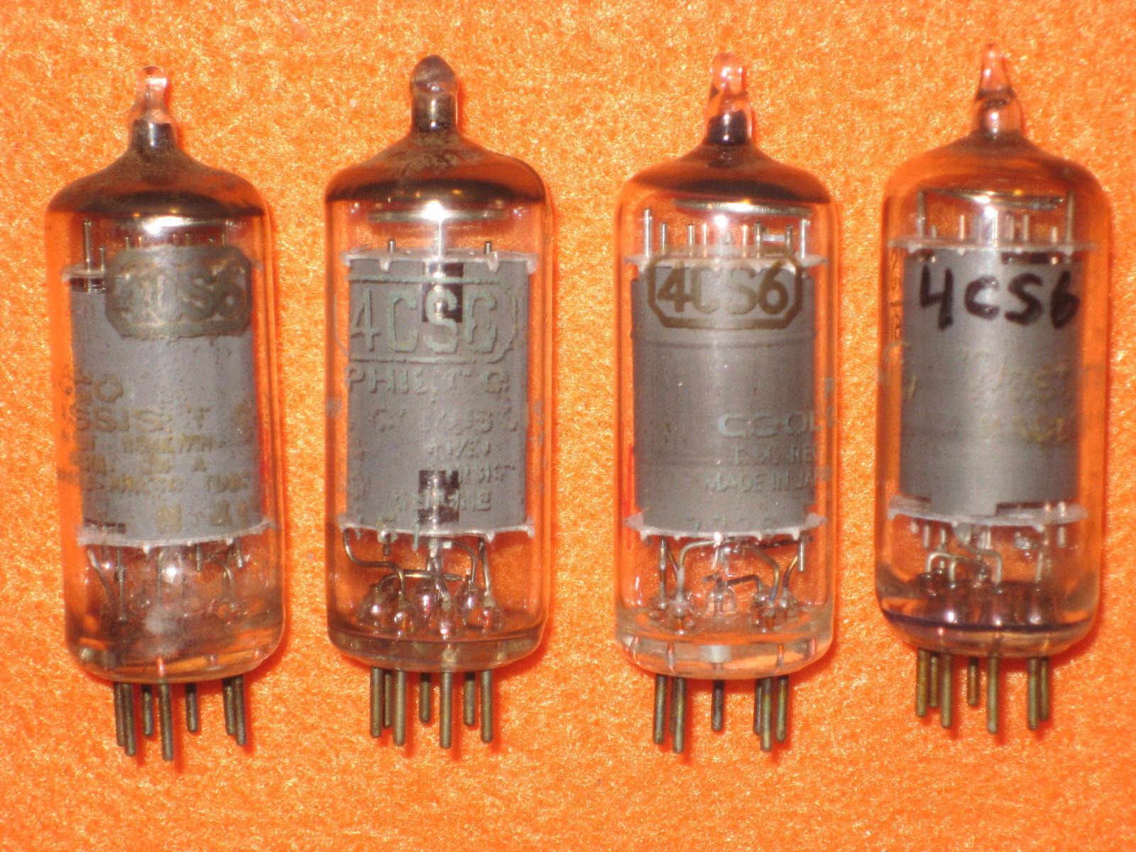 Vintage Radio Vacuum Tube (one): 4CS6 - Tested Good