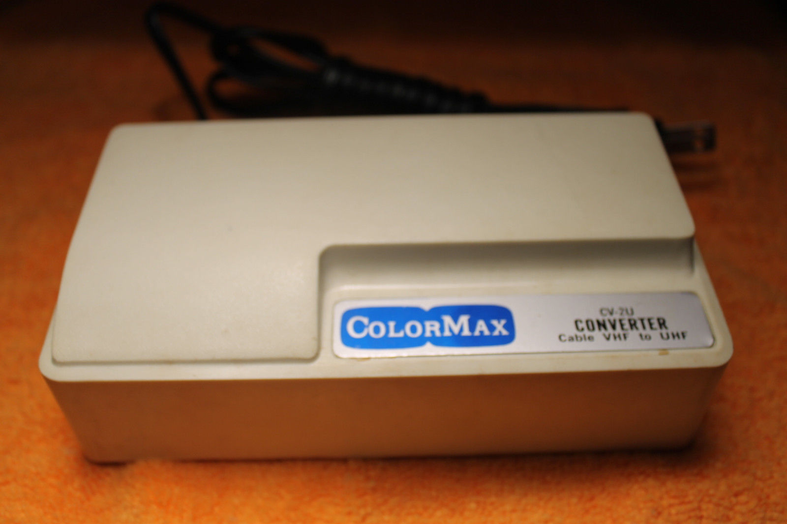 Vintage ColorMax CATV Cable VHF to UHF Coverter, Model CV-2U - UNTESTED