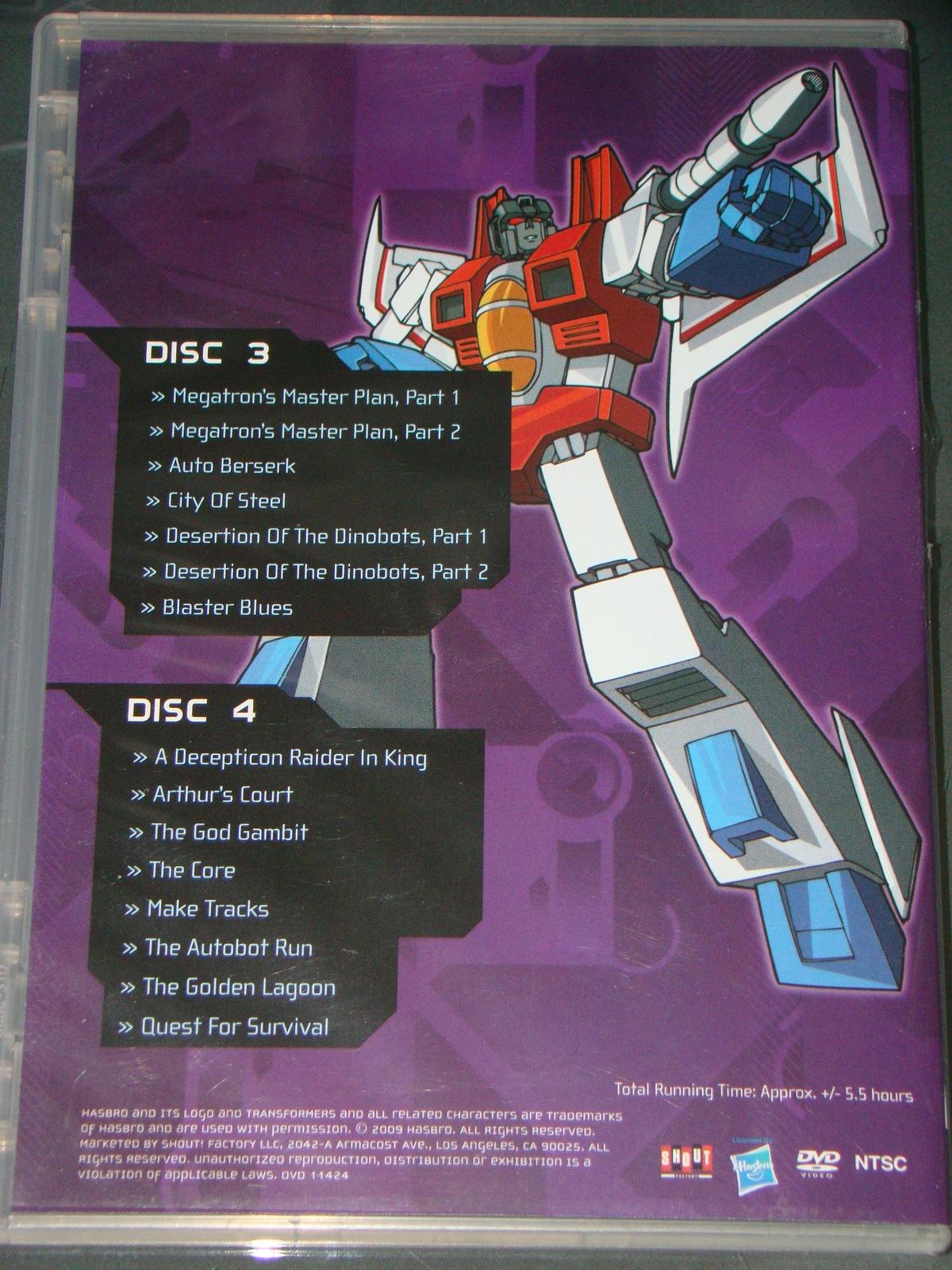(DVD) Anime - TRANSFORMERS - SEASON TWO - VOLUME ONE - DISCS 3 & 4