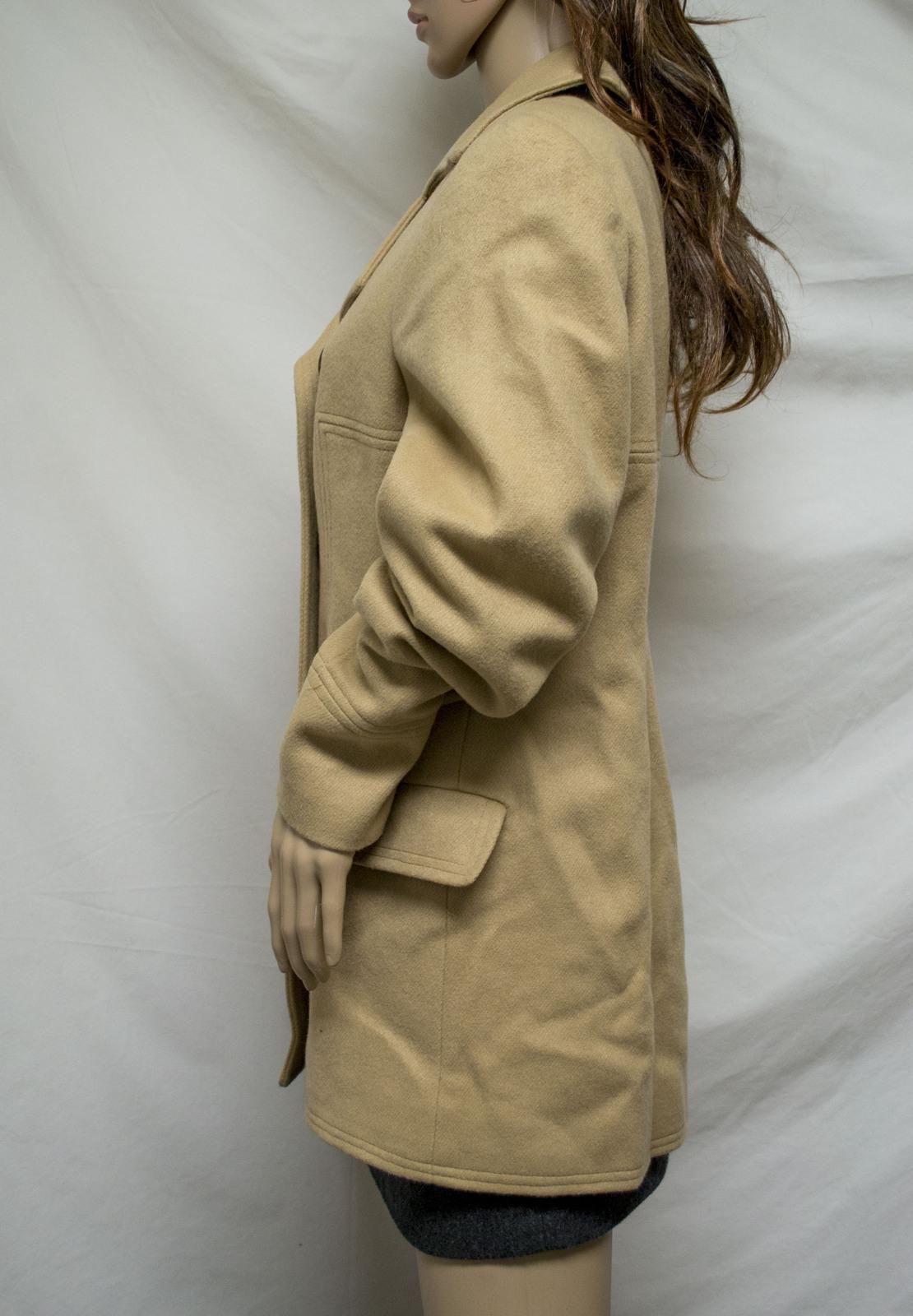 Gaspare Ferrara Women's Wool Blend Coat Tan Colored