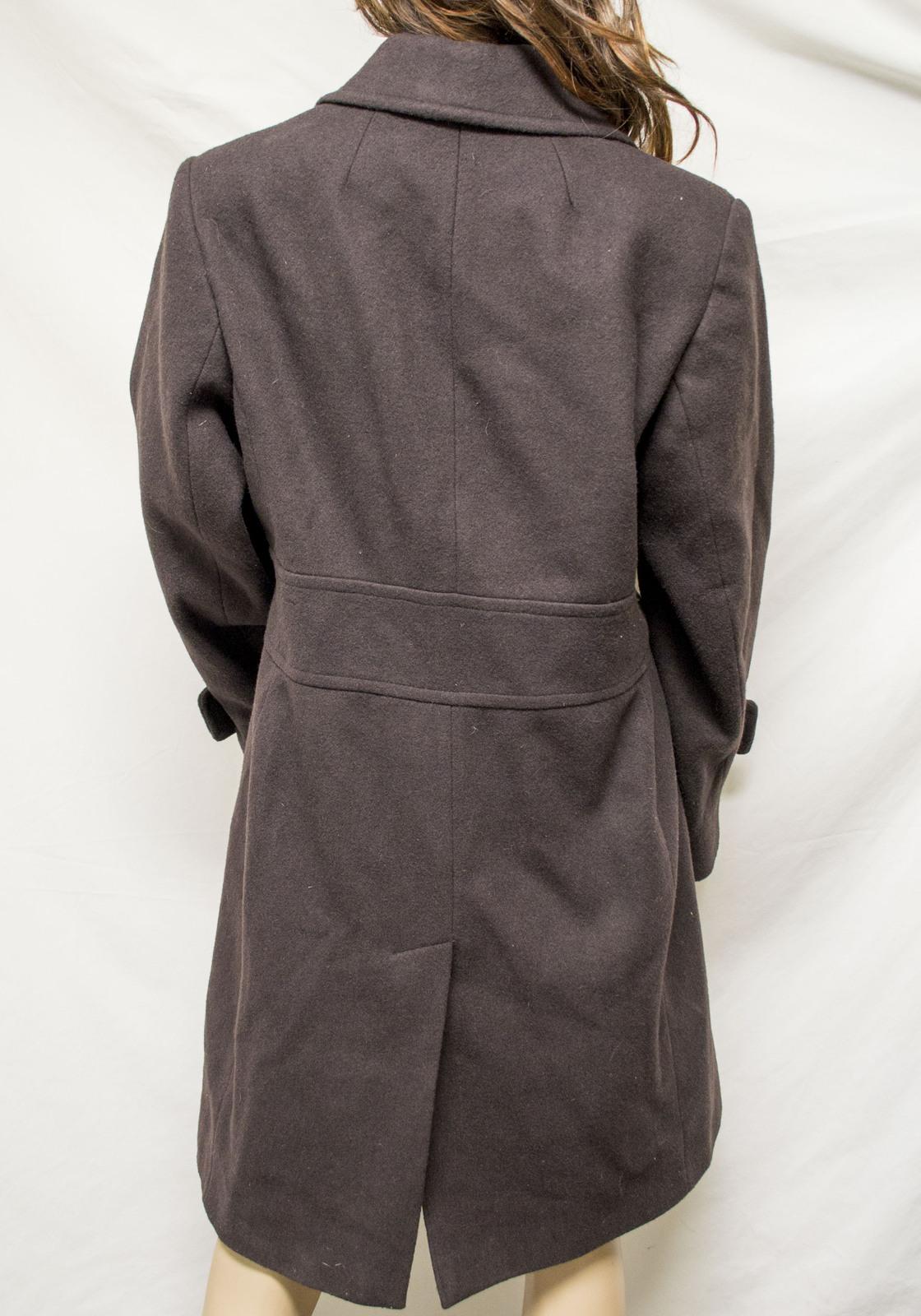 Gaspare Ferrara Size 10 Wool Blend Coat Brown