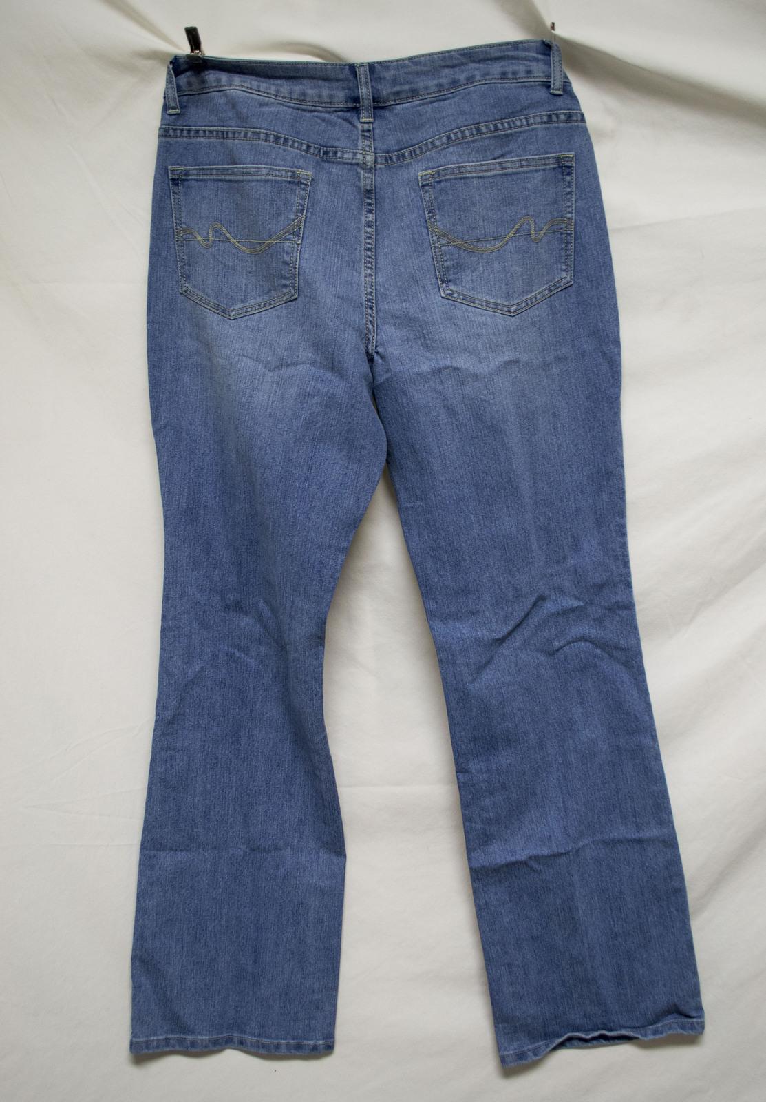 Lot of 2 Women's 12A Stretch Jeans Contour Waist Tummy Tuck Pants denim jeans