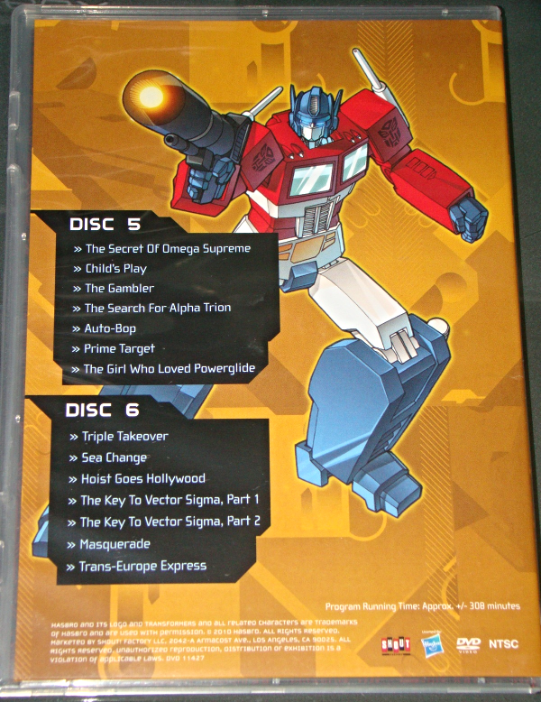 (DVD) Anime - TRANSFORMERS - SEASON TWO - VOLUME ONE - DISCS 5& 6