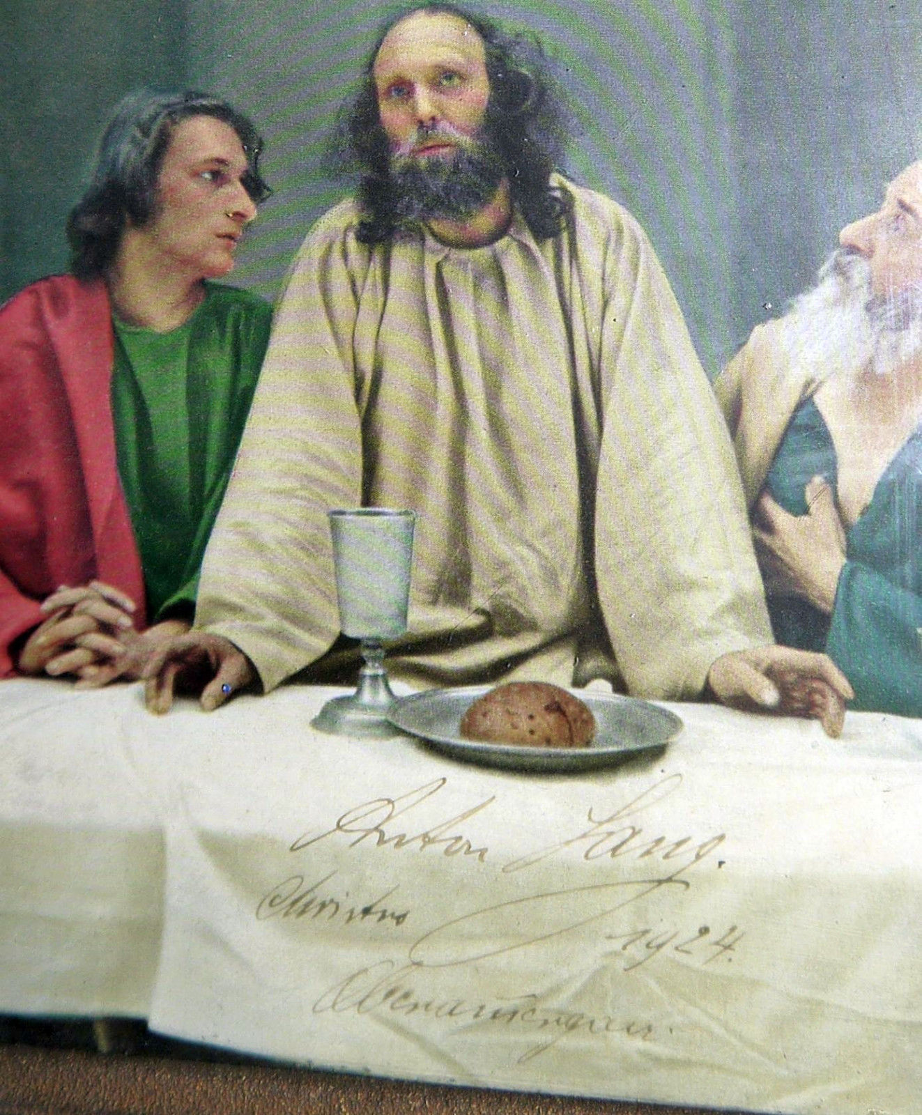1924 Actor Anton Lang Abendmahlszene Oberammergau Passion Play hand signed 8x10