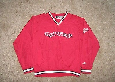 Red Wings Pullover, Long Sleeve, V-Neck, Jacket by Puma, Boy's, Size L