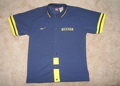 University of Michigan, Men's Shooting Shirt  by Nike, Blue, L