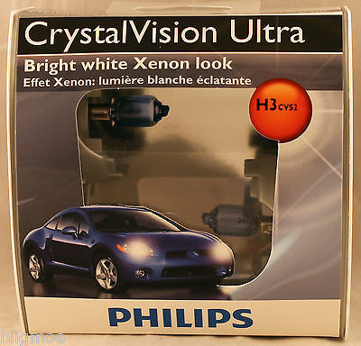 Ampoule Phare / Antibrouillard PHILIPS Crystal Vision Ultra H3 4300K 12336