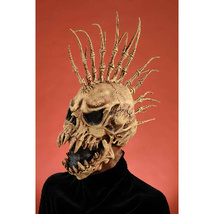DELUXE QUALITY ADULT LATEX THE FIN HORROR MASK WITH SPIKES - $34.13