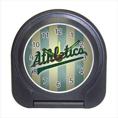 Oakland Athletics Compact Travel Alarm Clock (Battery Included) - MLB Baseball