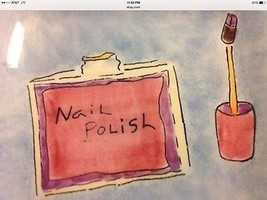 Decorative Wall Plate Hand Painted by Jessica Sporn Nail Polish Certified Intl C - $10.95