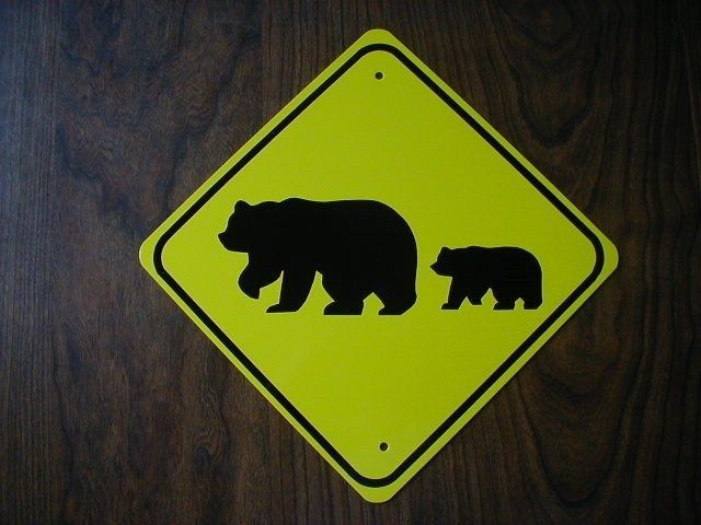 METAL MINI   BEAR FAMILY      MINIATURE SIGN