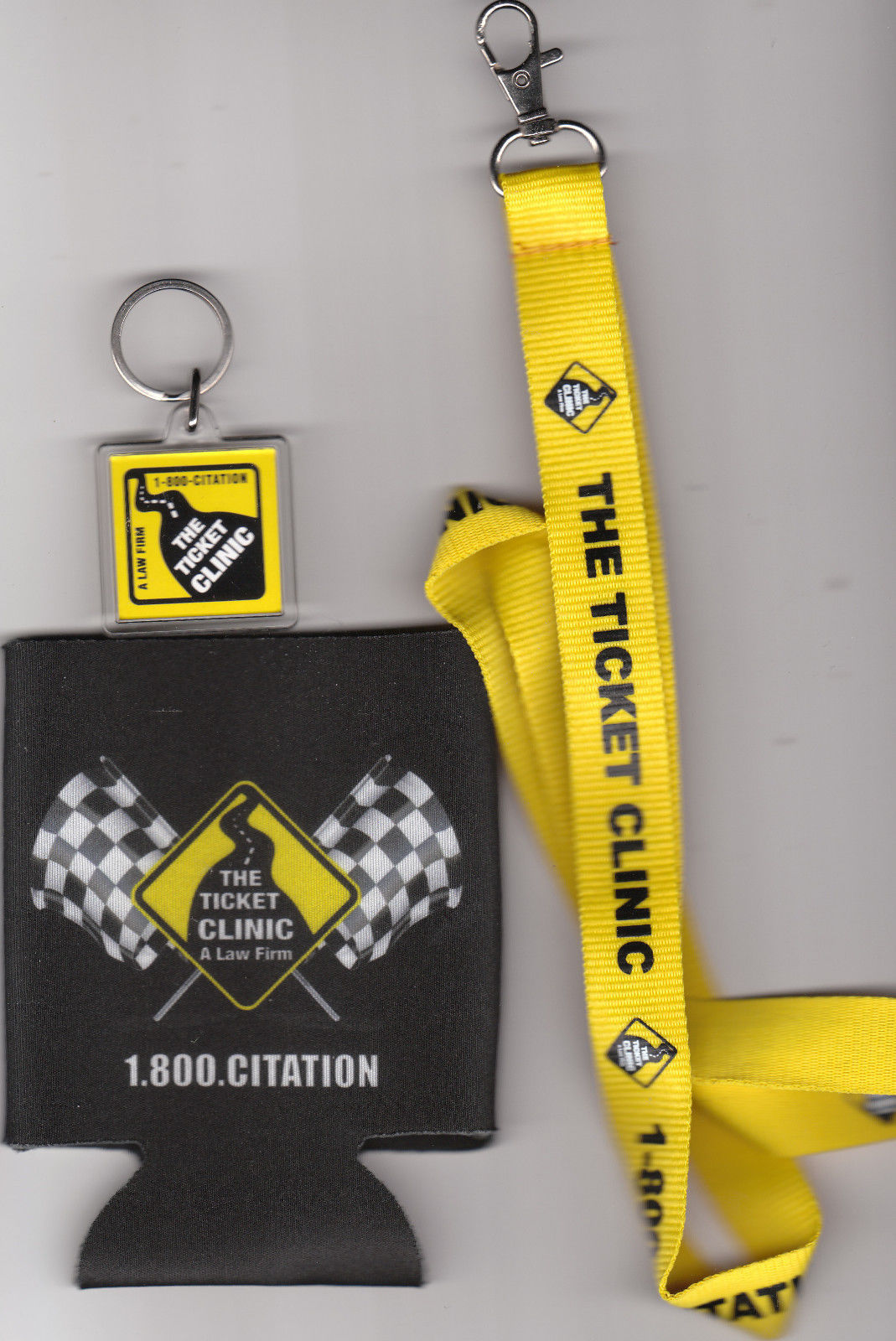 The Ticket Clinic new Lanyard,Koozie and Keychain + free shipping