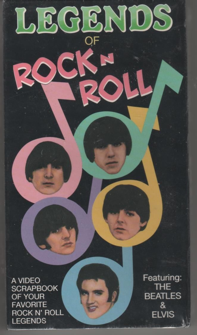 LEGENDS OF ROCK N ROLL featuring:THE BEATLES & ELVIS VHS NEW
